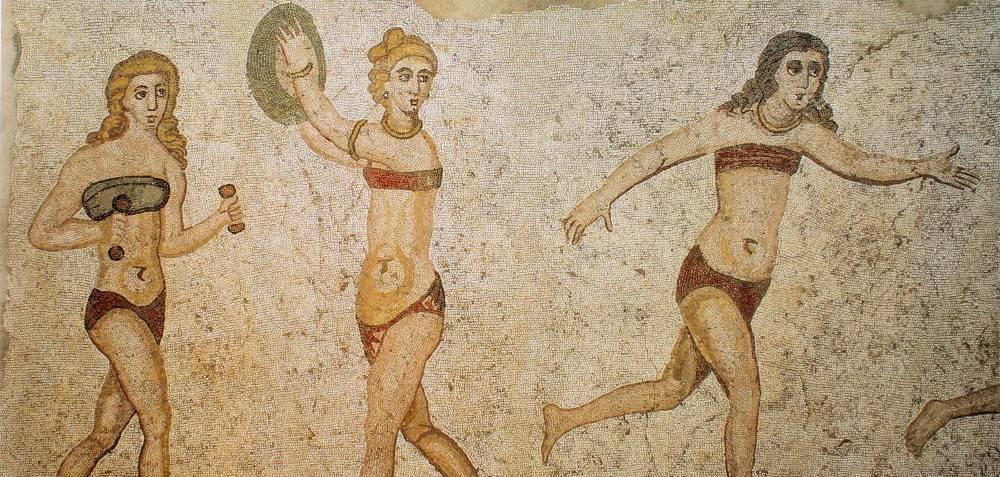 Bikini sul mosaico di Piazza Armerina