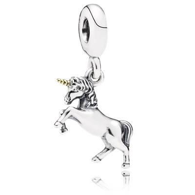 Pandora Charms Comunione con Pendente Unicorno