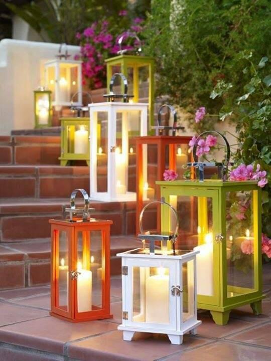 lanterne da giardino fai da te idee giardino arredando