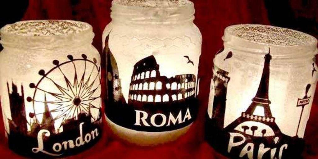 Idee per decorare i barattoli di vetro