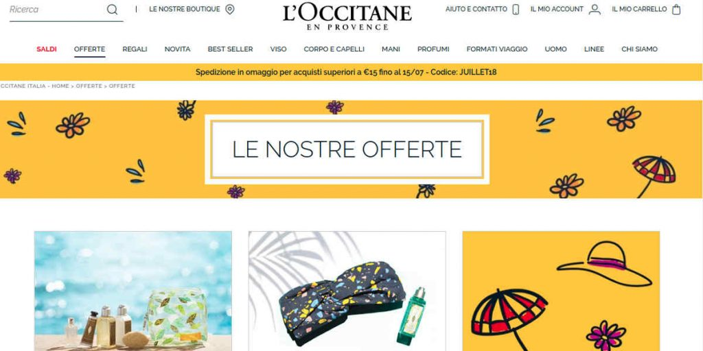 L'Occitane shop online