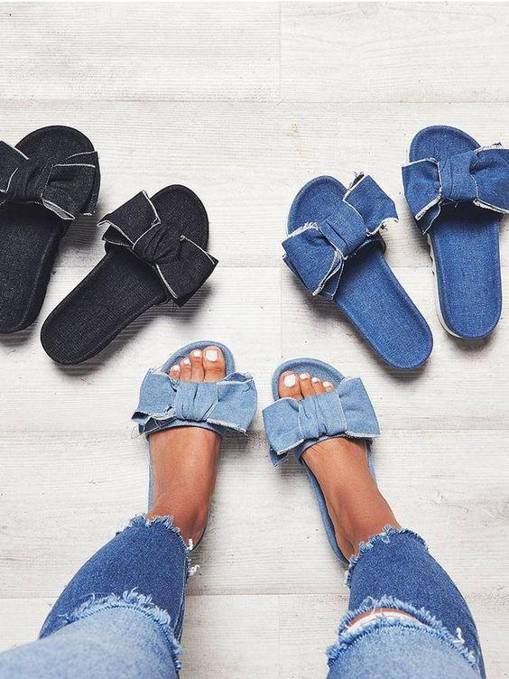 Come trasformare vecchi jeans in ciabatte