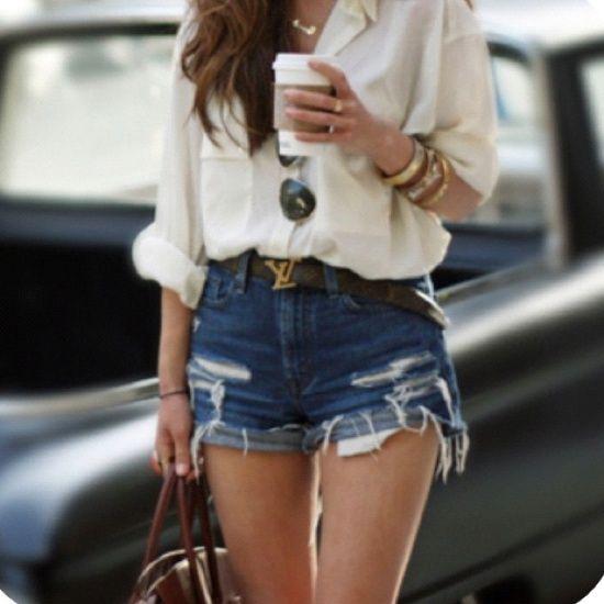 Come trasformare vecchi jeans in shorts