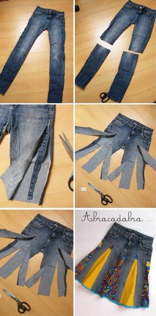 vestito riciclando vecchi jeans