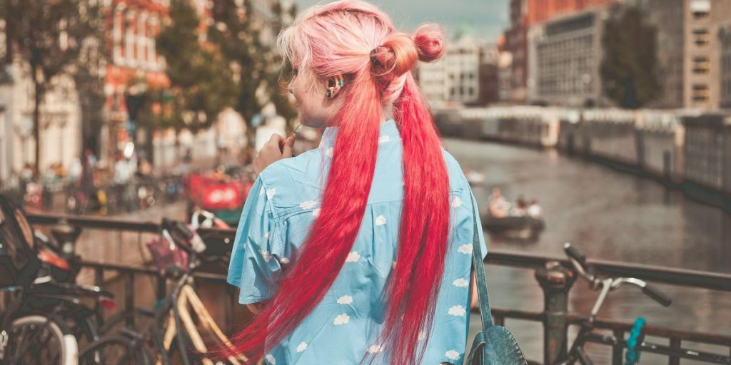 capelli rame con shatush