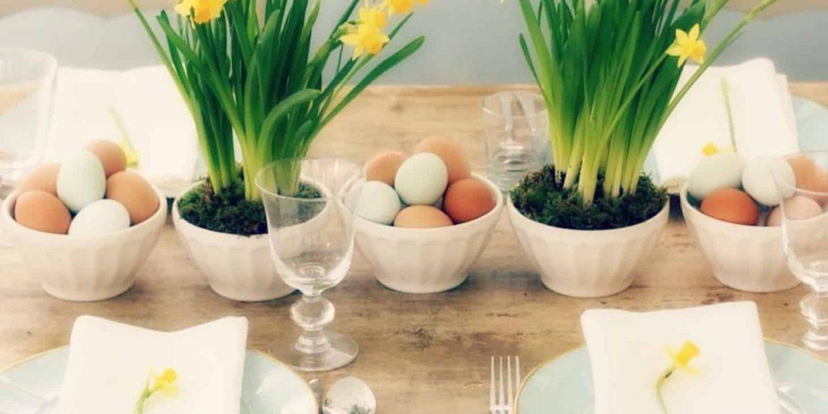 Apparecchiare la tavola di Pasqua in modo originale?