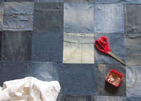 Come riciclare jeans vecchi e creare un copriletto in jeans