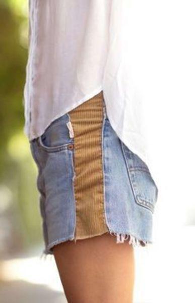 pantaloncino jeans e stoffa
