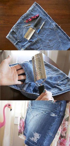 lavorazione sfilacciatura jeans