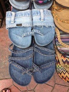 ciabatte jeans riciclato
