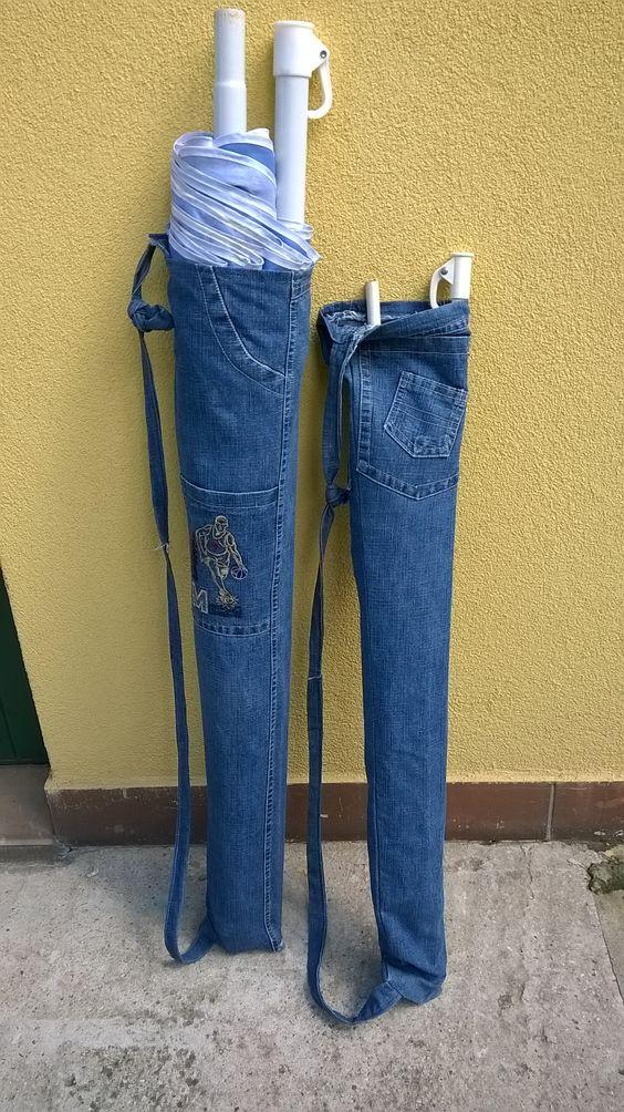 porta ombrellone jeans