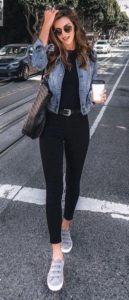 jeans neri street style