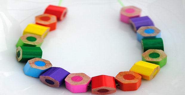 riciclo creativo matite colorate