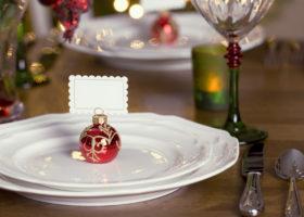 Segnaposti natalizi per tavola da pranzo