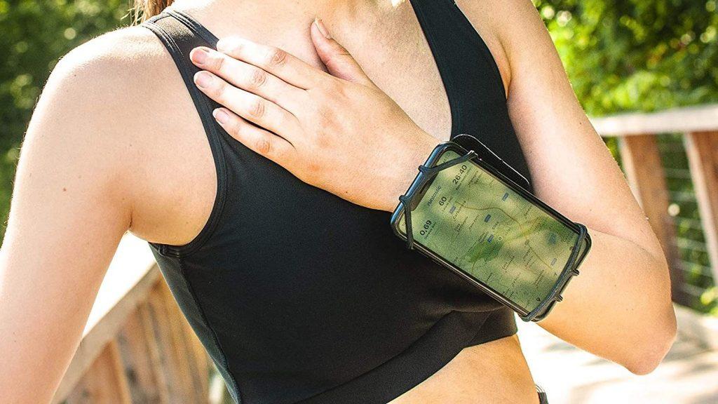 Accessori per lo sport. Porta smartphone da polso.